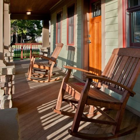 Henry Projects Rocking Chairs On The Front Porch
